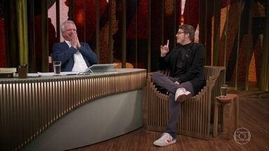 Fábio Porchat revela dica inusitada que recebeu de Marília Gabriela - O comediante ainda revela que possui um grande problema: esquecer o nome dos convidados