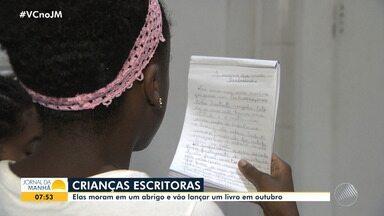 Dia do Escritor: crianças que moram em abrigo vão lançar livro em outubro - A instituição, que fica no bairro de Vila Laura, recebe meninos e meninas em situação de vulnerabilidade social. Eles são encaminhados pelo Ministério Público e Vara da Infância e Juventude.