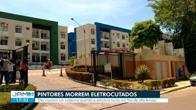 Dois homens morrem após serem eletrocutados enquanto pintavam fachada de prédio em Manaus - Acidente ocorreu enquanto pintores mudavam andaime de posição.
