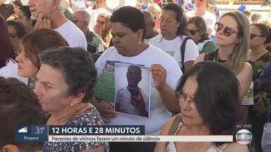 Minuto de silêncio às 12h28 homenageia os 270 mortos na tragédia da Vale em Brumadinho - Às 12h28 do dia 25 de janeiro deste ano, a barragem B1, na Mina Córrego do Feijão, começava a desabar.