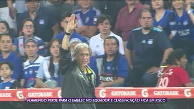 Nem Jesus salva! Flamengo perde para o Emelec no Equador e classificação fica em risco - Nem Jesus salva! Flamengo perde para o Emelec no Equador e classificação fica em risco