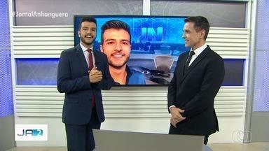 Matheus Ribeiro vai apresentar uma edição do Jornal Nacional - Apresentador foi escolhido para representar Goiás nas comemorações dos 50 anos do principal telejornal da Globo.
