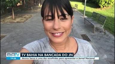 Apresentadora do Bahia Meio Dia vai apresentar uma edição do Jornal Nacional - Para celebrar 50 anos do JN, a Globo selecionou 27 apresentadores das afiliadas de todo país para comandar o jornal nos sábados, a partir do dia 31 de agosto.