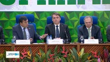 Presidente Jair Bolsonaro participa de reunião do CAS na Suframa - Bolsonaro visitou também um colégio militar.