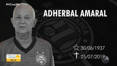 Familiares, amigos e torcedores do Bahia se despedem de Adherbal Amaral - O lendário e mais antigo funcionário do clube trabalhou por lá durante 42 anos.