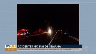 Acidentes de trânsito provocam vítimas na região de Presidente Prudente - Em Piquerobi, um homem de 54 anos morreu em uma estrada.