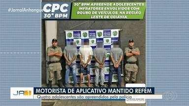 Polícia prende suspeitos de assaltar motorista e fazê-lo refém em Goiânia - Delegado fala sobre o crime em entrevista exclusiva.