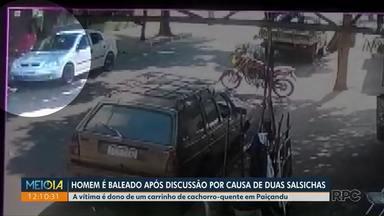 Discussão por 2 salsichas termina com homem baleado - Briga aconteceu em Paiçandu.