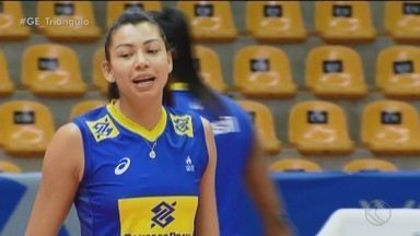 """Em """"casa"""", Carol pede um passo de cada vez para conquistar o Pré-Olímpico - Seleção brasileira feminina de vôlei treina no Sabiazinho em preparação para competição"""