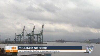 Autoridades se reúnem para definir estratégias de segurança do Porto de Santos - Objetivo é verificar as condições de segurança e aumentar a vigilância contra crimes como o tráfico de drogas.