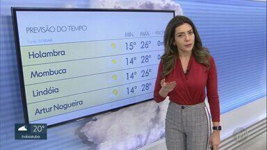 Confira a previsão do tempo para a região de Campinas nesta terça-feira (30) - Massa de ar seco continua sobre a região, o que afasta qualquer previsão de chuva. Em Campinas, a terça será de máxima de 27ºC.