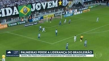 Santos assume liderança do Brasileirão após rodada do fim de semana - Time de Sampaoli tomou a ponta após tropeço do Palmeiras em casa