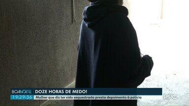 Mulher que diz ter sido sequestrada presta depoimento à polícia - Segundo a vítima ela foi sequestrada em Cascavel e liberada hoje de manhã em Foz do Iguaçu.
