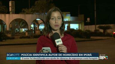 Polícia identifica autor de homicídio em Iporã - O autor foi identificado com ajuda de câmeras de segurança e está foragido.