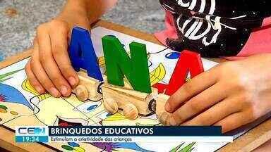 Brinquedos educativos estimulam criatividade das crianças - Confira mais notícias em g1.globo.com/ce