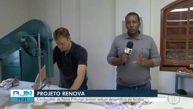 Projeto Renova reaproveita resíduos da produção de moda íntima em Nova Friburgo, no RJ - Assista a seguir.