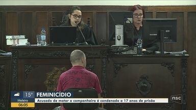 Acusado de matar a companheira é condenado a 17 anos de prisão na Serra catarinense - Acusado de matar a companheira é condenado a 17 anos de prisão na Serra catarinense