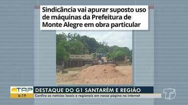Máquinas da prefeitura de Monte Alegre em obra particular é destaque no G1 Santarém - Confira esta e outras notícias acessando o portal.