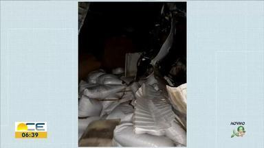 Uma pessoa morre em acidente envolvendo três veículos na BR-116 - Confira mais notícias em g1.com.br/ce