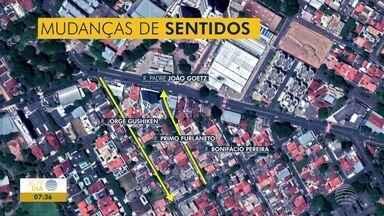 Ruas no Jardim Cinquentenário sofrem mudança de sentido - São três vias entre o HR e a sede da Polícia Federal.