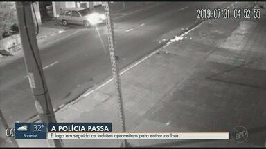 Ladrões usam carros em marcha à ré para invadir lojas em três bairros de Ribeirão Preto - Ações ocorreram no Jardim Paulista, nos Campos Elíseos e no Alto da Boa Vista durante a madrugada. Veja mais casos semelhantes na cidade.