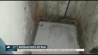 Casas de acolhimento de menores de rua no Rio apresentam más condições de conservação - Membros da comissão de Direitos Humanos da Câmara de Vereadores do Rio fizeram vistoria em duas casas de acolhimento com más condições de conservação.