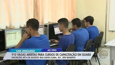 Guará também tem oportunidade para quem quer se qualificar - Veja detalhes com o repórter Bruno Pellegrine.