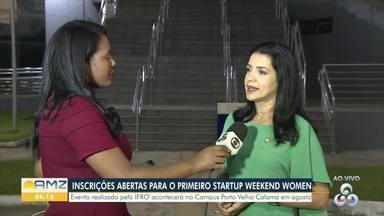 Evento mundial em Porto Velho voltado para startups está com inscrições abertas - Startup Weekend Women Porto Velho é realizado pelo Ifro e pelo Sebrae