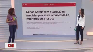 G1 no BDMG: Minas tem quase 30 mil medidas protetivas concedidas a mulheres pela Justiça - Tereza Cristina Peres, assassinada a tiros nesta segunda-feira (29), era uma delas. De acordo com o CNJ, foram 336.555 medidas concedidas em todo o país em 2018.