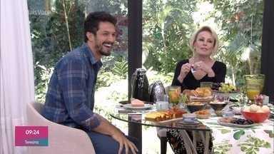 Programa de 01/08/2019 - Ana Maria Braga recebe o ator Romulo Estrela para o café da manhã. Os dois falam sobre a estreia da nova novela das 7, 'Bom Sucesso'