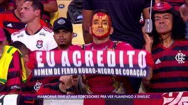 Com o apoio da torcida Flamengo vence nos pênaltis o Emelec e avança de fase na Libertadores - Com o apoio da torcida Flamengo vence nos pênaltis o Emelec e avança de fase na Libertadores