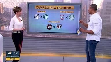 Corinthians vence no Uuguai e se classifica na Copa Sul-Americana - Além da vitória do alvinegro, que vai encarar o Fluminense nas quartas de final, também tem a confirmação de Daniel Alves no São Paulo e os confrontos dos times paulistas pelo Brasileirão. Domingo será dia de clássico: Corinthians x Palmeiras.