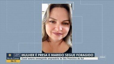 Presa mulher suspeita de matar comerciante de São Francisco do Sul - Presa mulher suspeita de matar comerciante de São Francisco do Sul