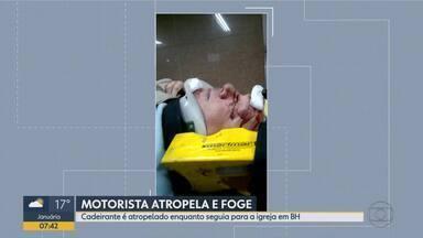 Um cadeirante foi atropelado neste domingo (4), no bairro Rio Branco, em Venda Nova - Motorista fugiu sem prestar socorro.