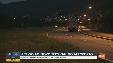 Novo trecho de acesso ao Aeroporto de Florianópolis é liberado - Novo trecho de acesso ao Aeroporto de Florianópolis é liberado