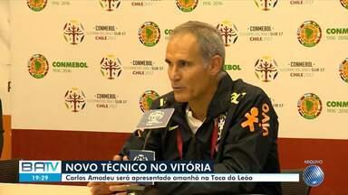 Novo técnico do Vitória: Carlos Amadeu foi anunciado nesta segunda-feira, 5 - O treinador será apresentado amanhã (6) na Toca do Leão.
