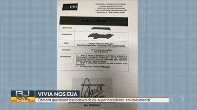 Câmara de Vereadores questiona assinatura de ex-superintendente em documento - Flávio Caland, exonerado no final de julho, estaria fora no Rio de Janeiro quando o documento foi assinado.