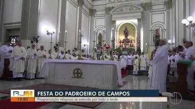 Festa do Santíssimo Salvador tem programação por toda a tarde desta terça (6) em Campos - 06 de agosto é o dia do padroeiro da cidade.