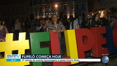 Festa Literária Internacional do Pelourinho (Flipelô) começa nesta quarta-feira (7) - Edição de 2019 do evento homenageia o poeta Castro Alves.