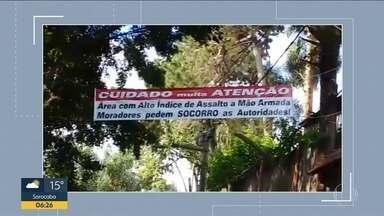 Moradores de Diadema apelam para placas para avisar de furtos e assaltos - Insegurança na cidade acabou gerando medidas dos comerciantes e moradores da região