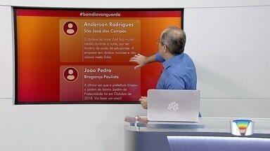 Veja participação do público no Bom Dia Vanguarda - Confira as interações no telão.