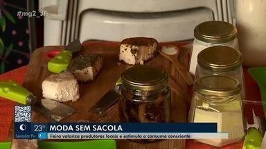 Evento promove valorização de produtos artesanais em Juiz de Fora - 'Moda Sem Sacola' conta também com palestras e gastronomia vegana. Objetivo é valorizar produtores locais.