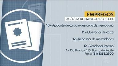 Confira vagas disponíveis na Agência de Emprego do Recife - Há oportunidades para ajudante de carga e descarga, operador de caixa, entre outras.