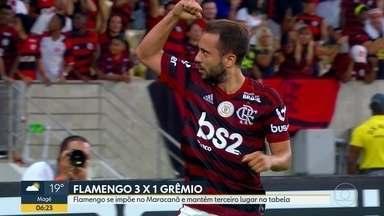 Os comentários de André Loffredo sobre o futebol carioca no fim de semana - Flamengo vence o Grêmio; Fluminense perde para o Atlético; Vasco bate o Goiás; e Botafogo derrota o Athletico.