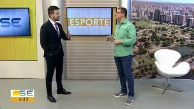 Confira as notícias do esporte desta segunda (12/08) - Thiago Barbosa destaca as informações da Copa TV Sergipe de Futsal e mostra os lances do empate em 1 a 1 entre Confiança e Santa Cruz na Arena Batistão.