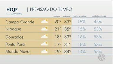 Nova frente fria deve chegar em MS a partir de amanhã - Camilla Jovê e os destaques da previsão do tempo para segunda-feira.