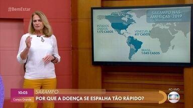 Casos de sarampo se espalham pelo Brasil - Médica explica que vírus se espalha muito rapidamente por isso é aconselhável a vacinação