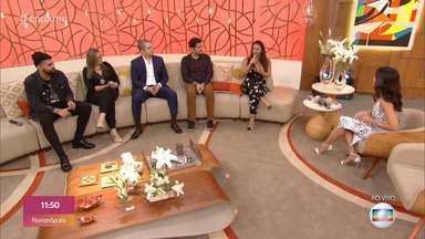 Programa de 12/08/2019 - Fátima Bernardes fala sobre os golpes virtuais e conversa com uma vítima no palco do 'Encontro'. Viviane Araújo e Dilsinho participam do papo