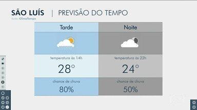 Confira as variações do tempo nesta segunda-feira (12) no Maranhão - Veja como deve ficar o tempo e a temperatura em São Luís e no Maranhão.