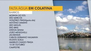 Quatorze bairros de Colatina, ES, podem ficar sem água - Será feita uma manutenção no abastecimento e quem não fizer uma reserva adequada de água pode ficar prejudicado.